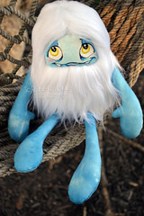 Yeppah Yeti (Scribble Dolls) Tags: winter white cold cute art ice monster fur toy happy stuffed furry doll sweet handmade ooak critter fluffy fluff plush softie stuffedanimal handpainted plushie faux handsewn cloth creature yeti sewn scribbledolls
