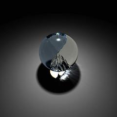 Yin-Yang of liquids (vitroid) Tags: water computer cg graphics phase separation povray supercooledwater polyamorphism
