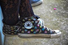Battle Approved Chucks (RobertChavis) Tags: old hearts nikon sneakers chucks d3100