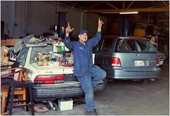 Autobody Shop Guys of Western Avenue (BalineseCat) Tags: park chicago shop ridge western rogers avenue mechanics autobody