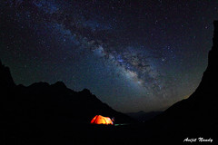 our camp & The Milky Way (AvijitNandy) Tags: