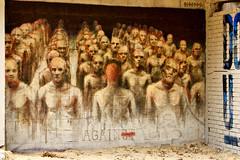 Borondo (dprezat) Tags: street paris building art against painting graffiti tag peinture immeuble bombe fresque pochoir aérosol borondo sonyalpha700 tourparis13