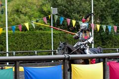 Jousting (jamesdonkin) Tags: horse public animal costume action leeds medieval tournament lance knight armour jousting royalarmouries platemail historicalgarb sengeorge fullplatearmour