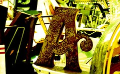 A (VERY GIORGIOUS) Tags: film typography lomo xpro lomography cross slide letter junkyard processed a
