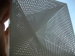 Looking through a string cube (fdecomite) Tags: art 3d printing cube math string blender povray shapeways