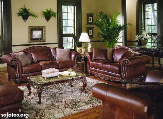 sala de estar decorada antiga