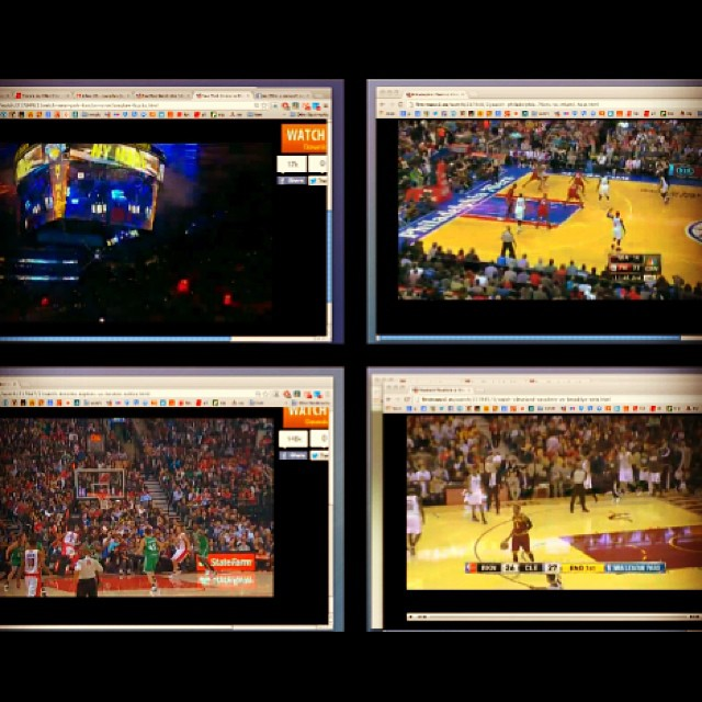 enjoying my mac spaces :-) have 7 NBA streams..... At the SAAAME TIIIME! #finally @streamwatchLIVE