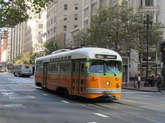 MUNI #1080 (St. Louis Car Co. PCC) in San Francisco, CA (CaliforniaRailfan101 Photography) Tags: trolley tram muni streetcar sanfranciscoca pcc streamliner sanfranciscomunicipalrailway stlouiscarcompany