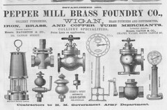 Pepper Mill Foundry, Wigan 1896 (Pitheadgear) Tags: foundry pit lancashire mining coal brass davy colliery wigan peppermill oillamp minerslamp clanny safetylamp marsaut minelighting mueseler