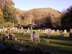 No More Sorrow. (Ishbelle 31) Tags: bridge trees sky cemetery grass scotland back village near cottage hills drystonewall gravestones hump ancrum scottishborders 2013