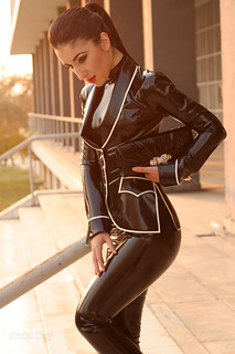 Marilyn Yusuf in Classy Latex Suit