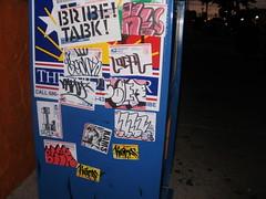 combo (=BLEK=) Tags: art one solar newspaper beans downtown box tx stickers free pic mcallen local usps graff rsa bribe tusk soler vast slaps kams kers oner blek tabk beme kerser vaster bleker tabkrew