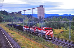 Tumbler Ridge, British Columbia (UW1983) Tags: britishcolumbia trains coal railroads bcrail tumblerridge coaltrains