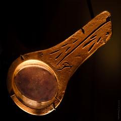 Stone Age Stone Lamp (Diana Philpot) Tags: art museum iceage houston ritual prehistoric stoneage naturalscience cromagnon
