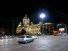Belgrade at night 01 (Katarina 2353) Tags: city building architecture night photo serbia national belgrade assembly srbija skupstina republicka katarinastefanovic katarina2353 savezna narodnaskupstinarepublikesrbije