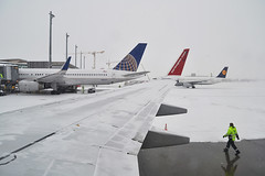 Oslo Airport Gardermoen - Window View (prahatravel) Tags: morning window oslo airplane airport gate view very snowy aircraft air united wing next norwegian shuttle boeing airlines generation 757 gardermoen 737 800ng