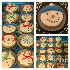 Snowmen Cupcakes, Pittsburgh, PA, www.birthdaycakes4free.com