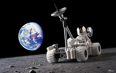 Lunar Rover _01 (_Tiler) Tags: moon lego space rover astronaut vehicle exploration apollo lunar moonrover lunarrover lrv