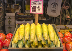 Corn (rschnaible (Off - Back Soon)) Tags: seattle street red usa green yellow fruit washington corn place northwest farmers market brothers sale sightseeing scene vegetable tourist fresh pirate wa destination apples produce organic pike selling touring manzo pacitic vision:outdoor=0556