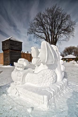 Snow sculpture II