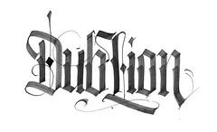 DubLion (Galen Zhelyazkov) Tags: music black ink letters calligraphy dub logotype