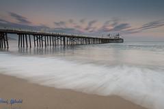 Malibu Pier at Sunset - Californa (AlkhashabNawaf) Tags: california travel sunset usa seascape beach colors clouds landscape photography pier los nikon view angeles united states kuwait nikkor d800 nawaf 1635 غروب ساحل شاطئ بحر نيكون نواف الخشاب alkhashab دي٨٠٠