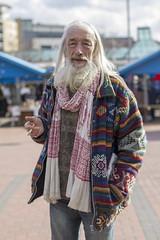 Sitar (Zo0Bear) Tags: street portrait scarf leeds hindu humans sitar spiritualism