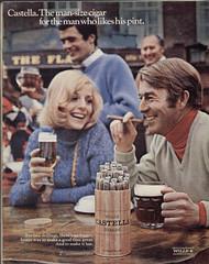 Wills Castella - 1969 (rchappo2002) Tags: man 1969 vintage magazine advertising tv 60s ad cigar retro smoking times 1960s 69 pint wills tobacco sixties adverts castella tvtimes panatella