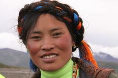 tibetan nomad woman (rongpuk) Tags: people mountain man mountains trekking trek women tibet nomad tibetan himalaya saga