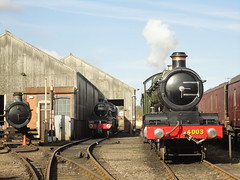 45305 and 4003, Tysley (JH Stokes) Tags: green photography locomotives tyseley lodestar gwr greatwesternrailway steamlocomotives 4003 black5 45305 preservedlocos tyseleylocoworks tenderengines