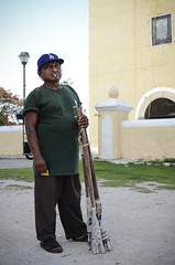 Man with Fireworks, Tunkas, Yucatan, Mexico (DrewGaines) Tags: portrait mexico fireworks yucatan drew izamal gaines cuetes tunkas drewgaines