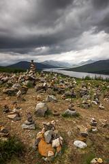Cairn City (p.scharnowski) Tags: uk lake mountains landscape see scotland unitedkingdom berge cairns landschaft lochloyne