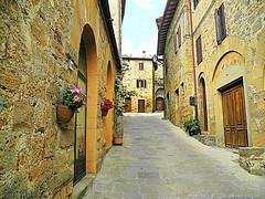 Montichiello, Il Borgo, The Ancient village (michele masiero) Tags: italia eu siena toscana valdorcia vicoli borghi montichiello fotosketcher ilborgodimontichiello