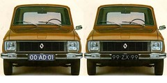 Renault 6 TL 00-AD-01 & 99-ZX-99 (Fuego 81) Tags: 00ad01 99zx99 renault 6 r6 1973 onk sidecode3