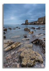 Stepping Stones (Steven Peachey) Tags: marsden marsdenbay southshields southtyneside northeastcoast northeastengland uk england canon canon6d ef1740mmf4l lee09gnd leefilters manfrotto beach sky sea clouds tide lowlight le longexposure rocks 2017 morning stevenpeachey lightroom seascape