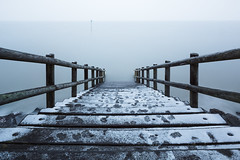 Cold (Scott Baldock) Tags: long exposure 10 stop seascape winter colour blue water river thames estuary steps wood jetty uk snow cold atmosphere ethereal mood