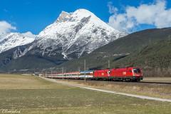 ÖBB 1116 058 und 1116 123 bei Flaurling (TheKnaeggebrot) Tags: öbb oec ec eurocity ec163 transalpin siemens taurus 1116058 1116123 1116
