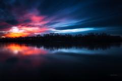 Couchant sur la Saône (Stéphane Sélo Photographies) Tags: france lyon pentax pentaxk3ii saône ain barque blending coucherdesoleil eau fleuve glace ice landscape paysage river rivière sunset water