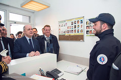 Déplacement ministre dans les Pyrénées-orientales (Ministere de l'Intérieur) Tags: perpignan france inauguration locaux compagnie gendarmerie narbonne ddsp zsp saint jacques et matthieu paf sentinelle douanes