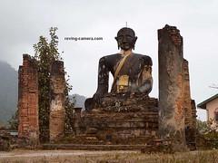 Remains of a Bombed Out Temple, Plain of Jars, Laos, 2011 (deemixx) Tags: laos plainofjars vietnamwar buddha ruinedtemple bombedtemple