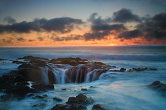 Thor's Well 4-2-13-79 (ZLBlackwood) Tags: sunset oregon coast april yachats capeperpetua 2013 thorswell