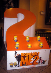 Despicable Me 2 Whack A Mole Minion Game Standee  0186 (Brechtbug) Tags: street new york city nyc 2 two game me yellow computer movie poster theater with theatre cartoon billboard lobby animation critters amc mole 34th whack gru sequel despicable minion standee henchmen standees 2013 a 05202013