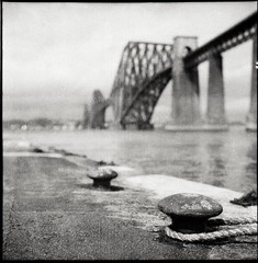 Forth Rail Bridge (thegordonbell) Tags: bridge rolleiflex rail forth caffenol