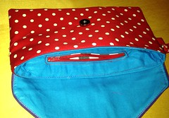 Noodlehead Envelope Clutch Pattern (Chickpeap) Tags: red bag pattern purple polka dot purse spotty envelope clutch piping noodlehead uploaded:by=flickrmobile flickriosapp:filter=nofilter