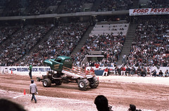 IMG_0062 (Nighthauler Photography) Tags: tractor cars truck pull meadowlands arena crushing bigfoot sled weight