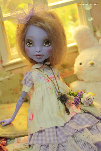 Hydrangea ooak custom Moster High doll