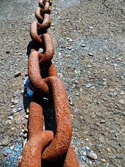 mooring chain 2 (siaronj) Tags: rusty chain mooring links