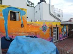 """Naranja Birmania"" (Icaro Silencia art) Tags: streetart color mural grafitti arte aves pajaros linea pintura forma colibri figura alquimia silencia icaro muralismo esporas vasijas icarosilencia calleartecallejero"