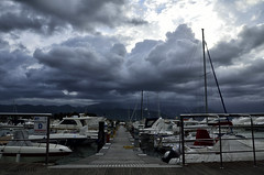 Bocca di Magra (Luca131313) Tags: panorama cloud landscape nuvole mare barche porto dx 18105 nikond5100 luca131313 acadatirde