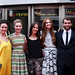 Amy Manson, Freya Mavor, Kate Dickie, Karen Gillan, Stanley Weber and Gary Lewis arriving for the World Premiere of Not Another Happy Ending at Festival Theatre